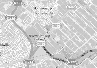 Kaartweergave van Leerdam in Honselersdijk