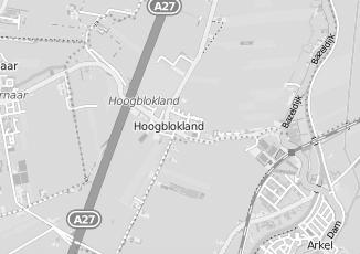 Kaartweergave van Bikker in Hoogblokland