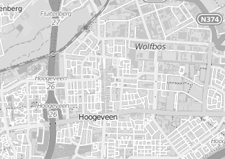 Kaartweergave van Vervoer in Hoogeveen