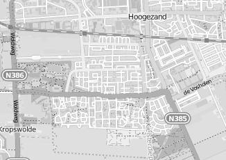 Kaartweergave van Hummel in Hoogezand