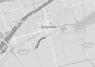 Kaartweergave van Woningbouw in Hoogmade