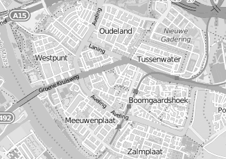 Kaartweergave van Bosch in Hoogvliet Rotterdam