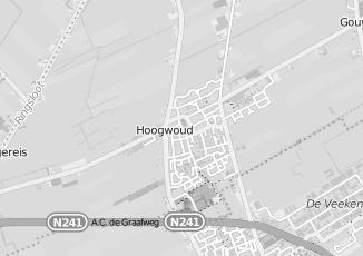 Kaartweergave van Bosman in Hoogwoud