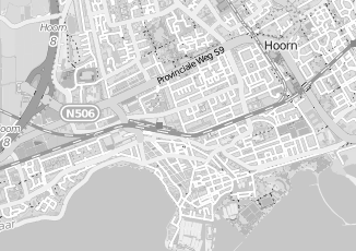 Kaartweergave van Rood in Hoorn Noord Holland