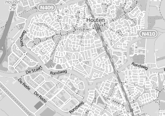 Kaartweergave van Hermans in Houten