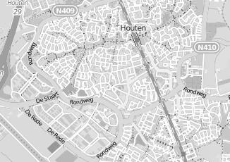 Kaartweergave van Agterberg in Houten