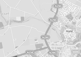Kaartweergave van Bergen in Hulst
