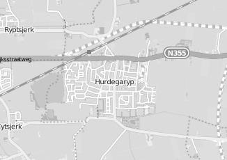 Kaartweergave van Miedema in Hurdegaryp