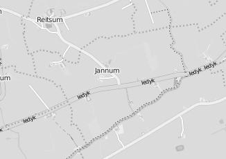 Kaartweergave van C1000 in Jannum