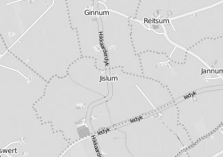 Kaartweergave van Milieustraat in Jislum