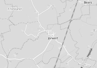 Kaartweergave van Albert heijn in Jorwert