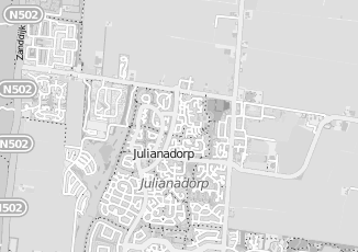 Kaartweergave van Hendriks in Julianadorp