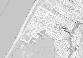 Kaartweergave van Strandpaviljoen de deining in Katwijk
