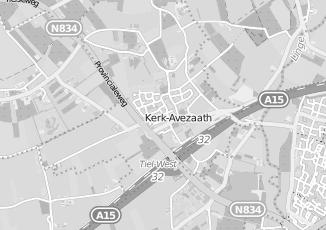 Kaartweergave van Albert heijn in Kerk Avezaath Tiel