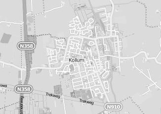 Kaartweergave van Bosch in Kollum