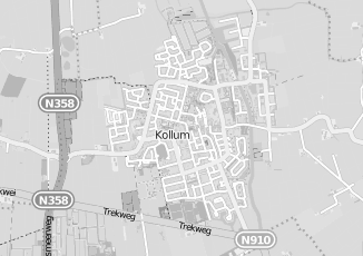Kaartweergave van Merkus in Kollum