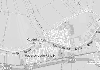 Kaartweergave van Dam in Koudekerk Aan Den Rijn