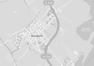 Kaartweergave van Bergsma in Koudum