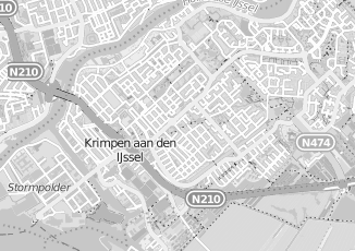 Kaartweergave van Blonk in Krimpen Aan Den Ijssel