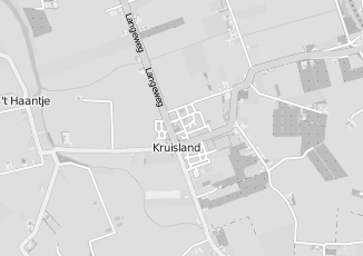 Kaartweergave van Houtepen in Kruisland