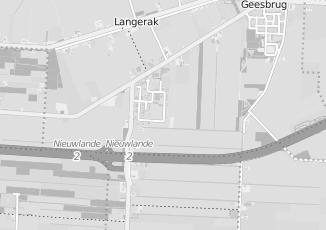Kaartweergave van Bakker in Langerak