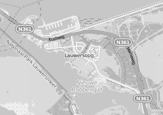 Kaartweergave van Visserij cooperatie in Lauwersoog