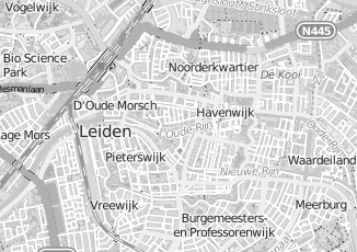 Kaartweergave van Greef in Leiden