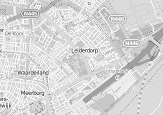 Kaartweergave van Leeuw in Leiderdorp