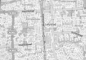 Kaartweergave van Amsterdam in Lelystad