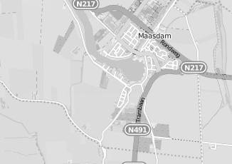 Kaartweergave van Geus in Maasdam