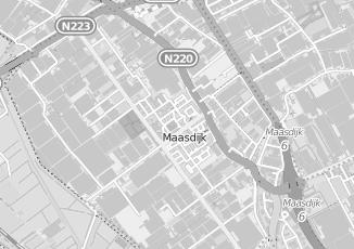 Kaartweergave van Dekker in Maasdijk