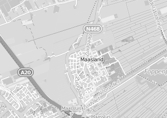 Kaartweergave van Dijkshoorn in Maasland