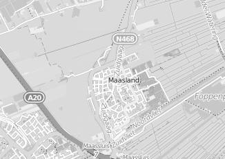 Kaartweergave van Verboon in Maasland