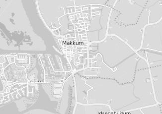 Kaartweergave van Bosma in Makkum