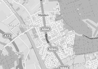 Kaartweergave van Leeuwen in Malden
