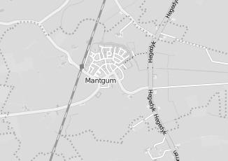 Kaartweergave van Reitsma in Mantgum