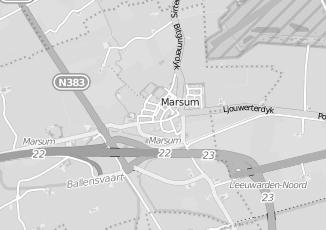 Kaartweergave van Postma in Marsum