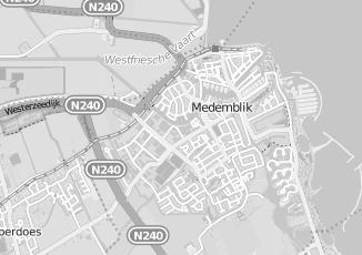 Kaartweergave van Adres station in Medemblik