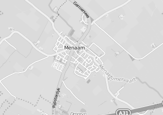 Kaartweergave van Meulen in Menaam