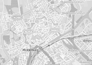 Kaartweergave van Hamelink in Middelburg
