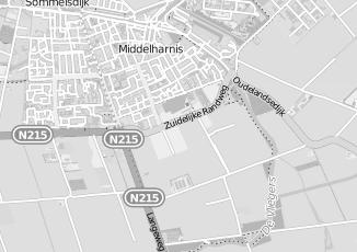 Kaartweergave van Rombout kappers in Middelharnis