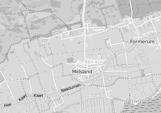 Kaartweergave van Milieustraat in Midsland