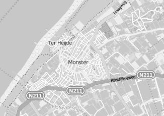 Kaartweergave van Berg in Monster