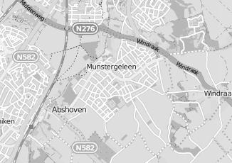 Kaartweergave van Claessen in Munstergeleen