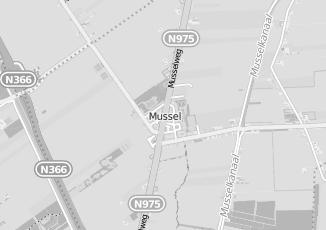 Kaartweergave van Internetdiensten in Mussel