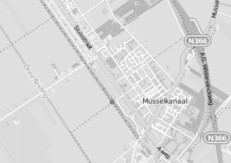Kaartweergave van Aalders in Musselkanaal