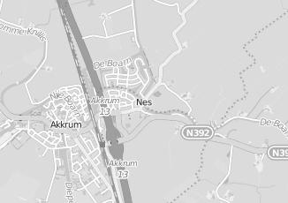 Kaartweergave van Jager in Nes Gemeente Boarnsterhim Friesland