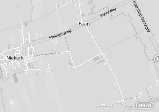 Kaartweergave van Haan in Niekerk Grootegast