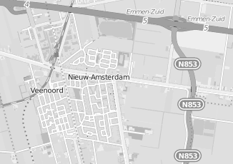 Kaartweergave van Bakker in Nieuw Amsterdam