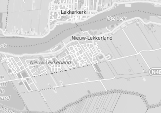 Kaartweergave van Hartog in Nieuw Lekkerland